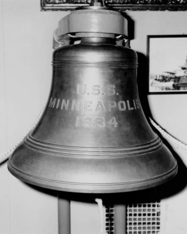 uss minneapolis bell
