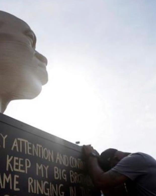 George Floyd statue.