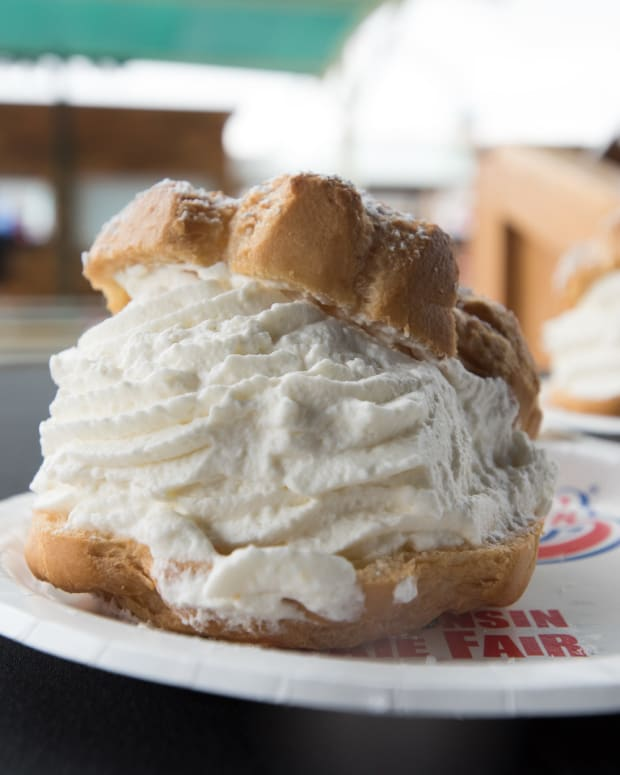 Flickr - Wisconsin State Fair cream puff - USDA