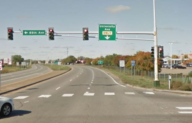 Pedestrian dies after being hit by driver on busy road in Blaine