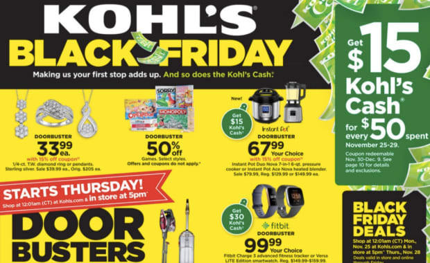 Kohl S Releases Black Friday Deals Including 15 Discounts And Kohl S Cash Bring Me The News