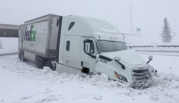 I-94 closed eastbound in Melrose after snow plow struck