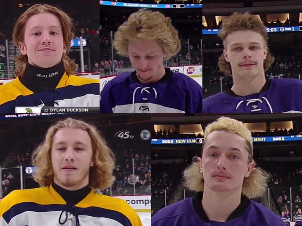 Gallery: Hockey hair from day 1 of the Minnesota high school