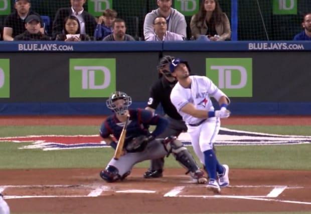 Watch: Mitch Garver hit in neck by broken bat, then slugs 2-run homer to lead Twins