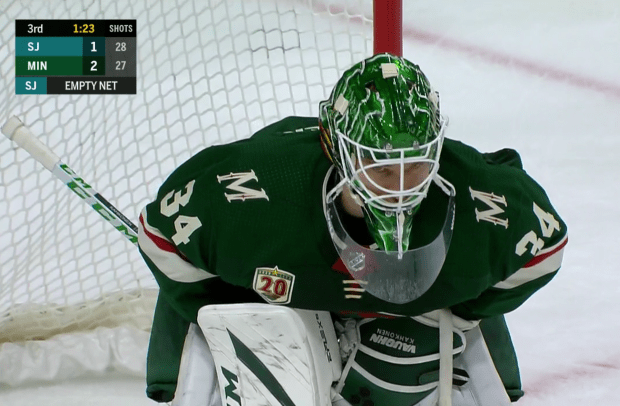 Wild improve to 4-1 with victory over Dubnyk, Sharks