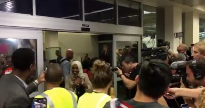 Ilhan Omar's arrival at MSP Airport becomes a viral moment