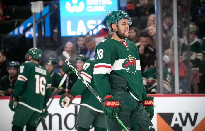 Greenway scores, assists and fights in Wild win over Oilers