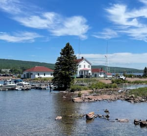 The North Superior Station of the Coast Guard at Artist Point in Grand Marais.
