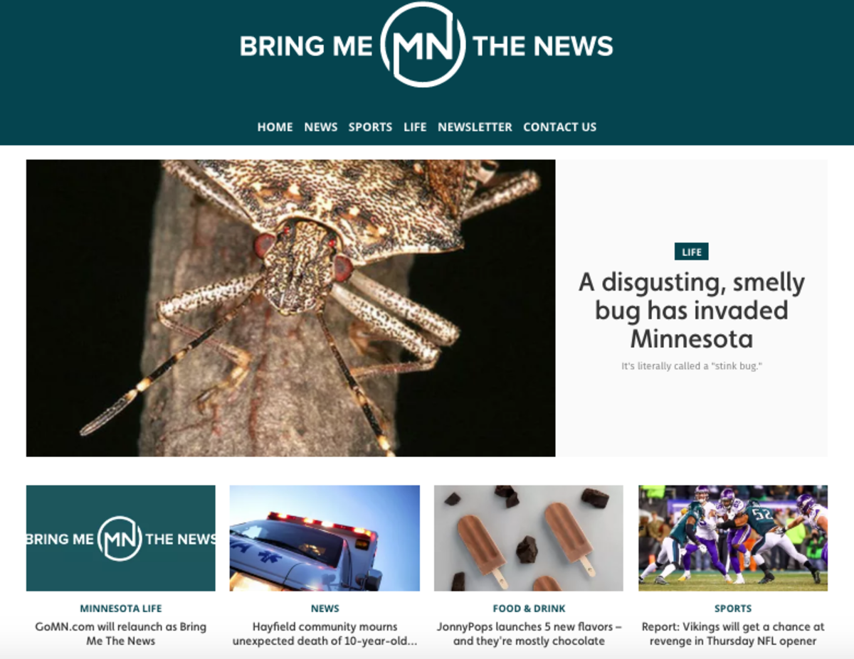 bringmethenews.com homepage