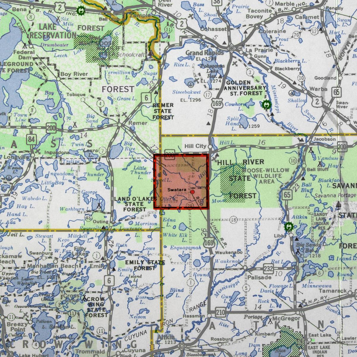 Swatara Forest Map
