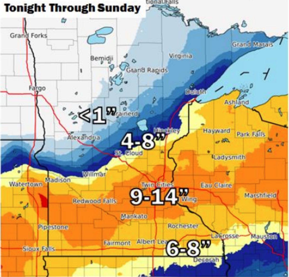 Major Snow Totals Still On Track As The Brunt Of The Storm Moves In