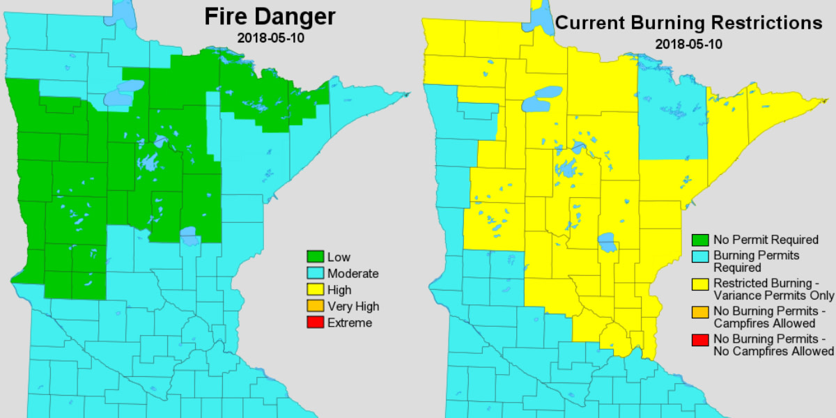 dnr fire maps