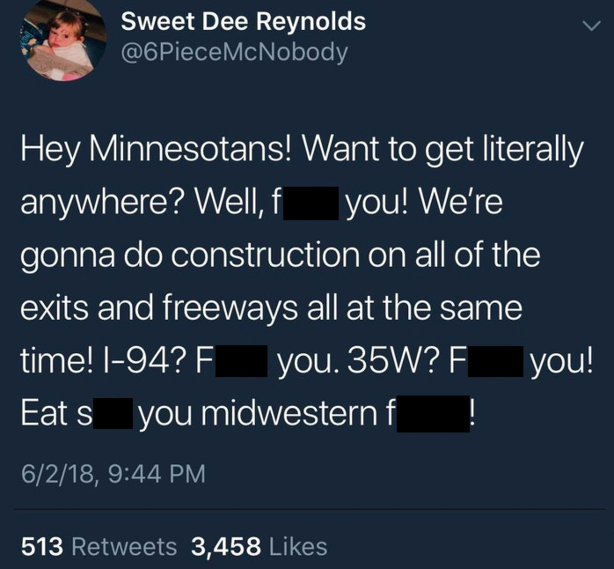 Construction tweet