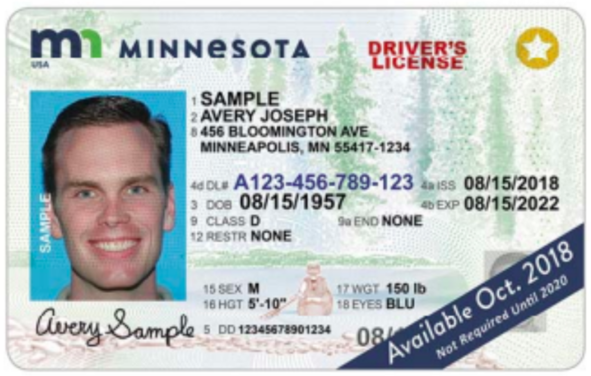 A Real ID-compliant driver's license.