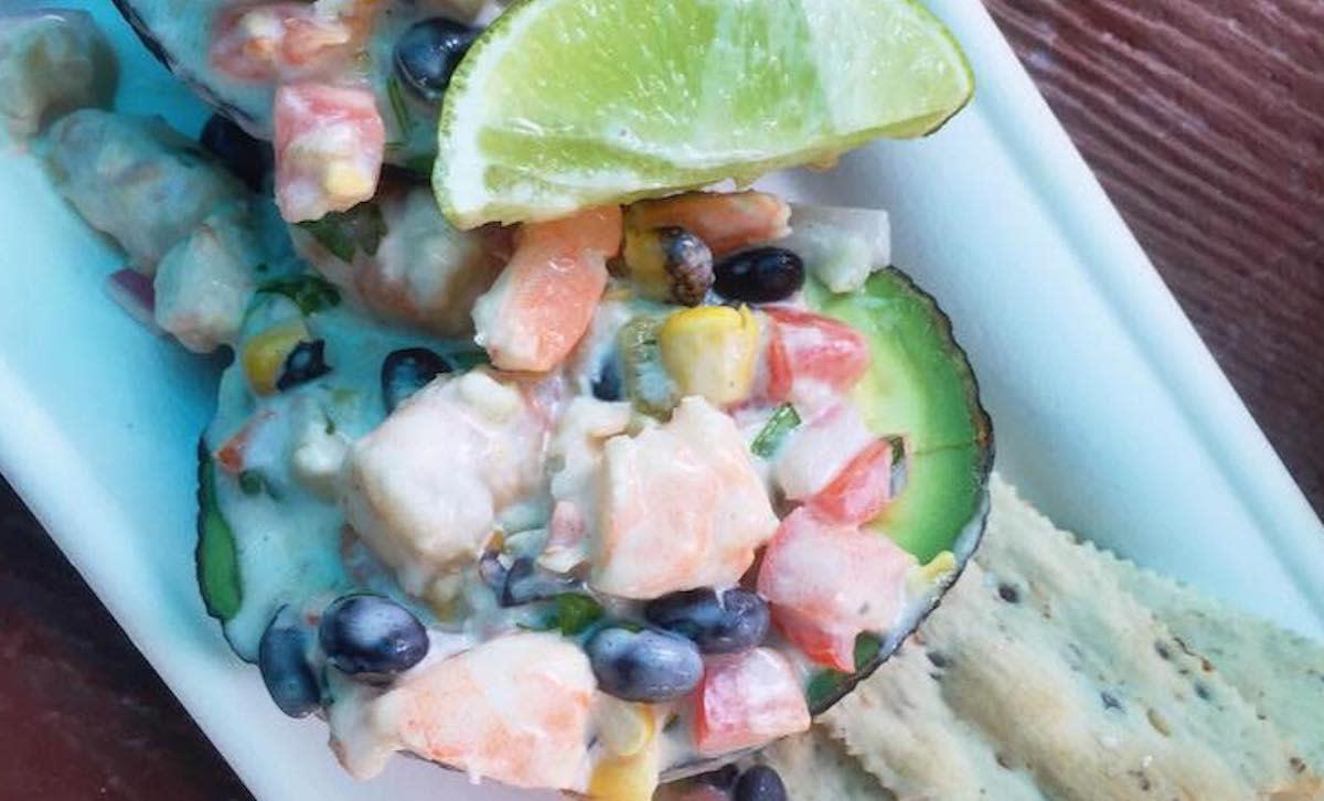 Firecracker shrimp avocado
