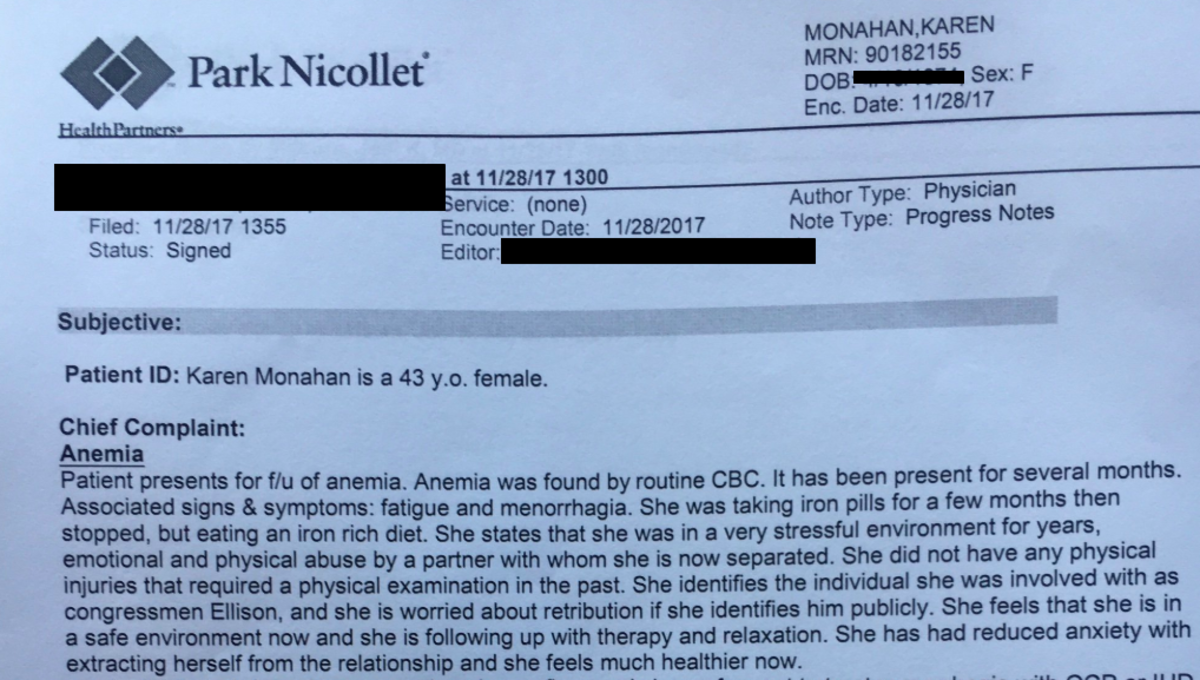 karen monahan medical record
