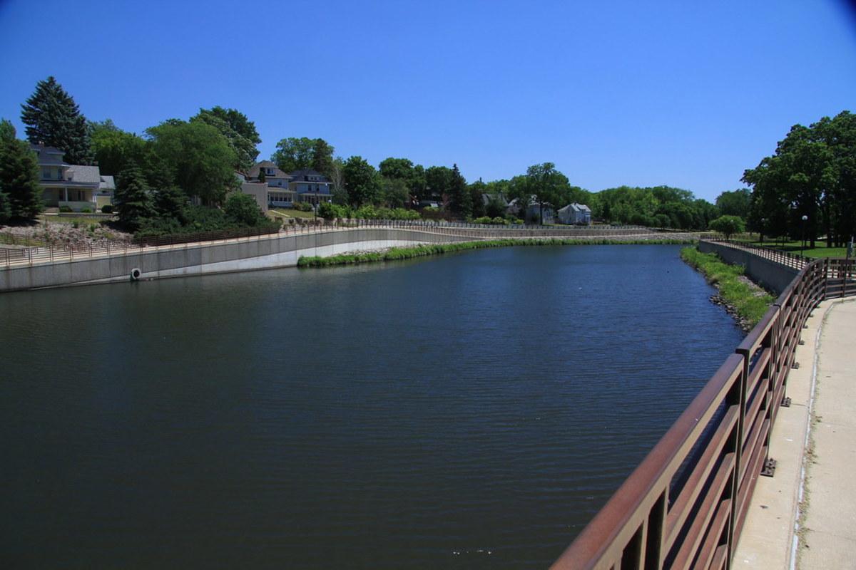 The Zumbro River in Rochester.
