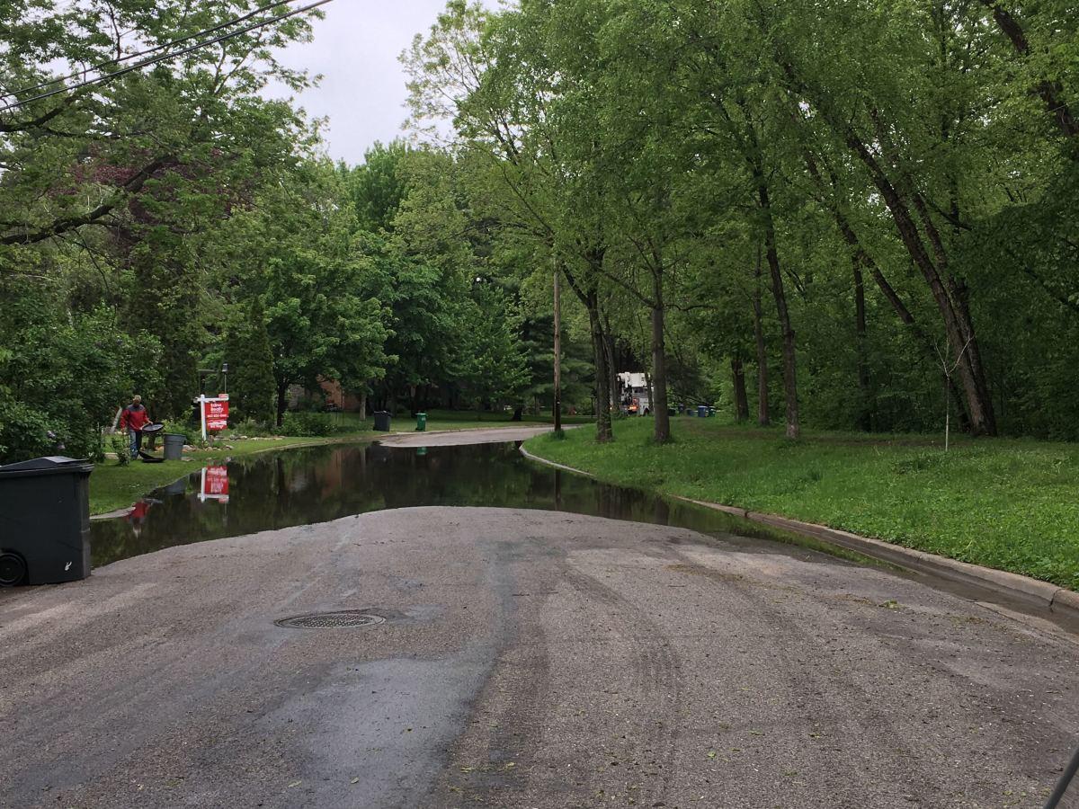 Flooding along Minnehaha Creek.