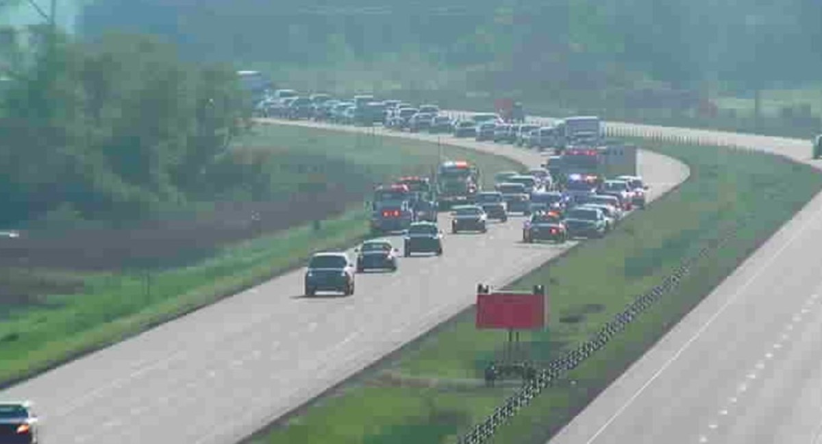 Serious motorcycle crash shuts down southbound I-35W in north metro