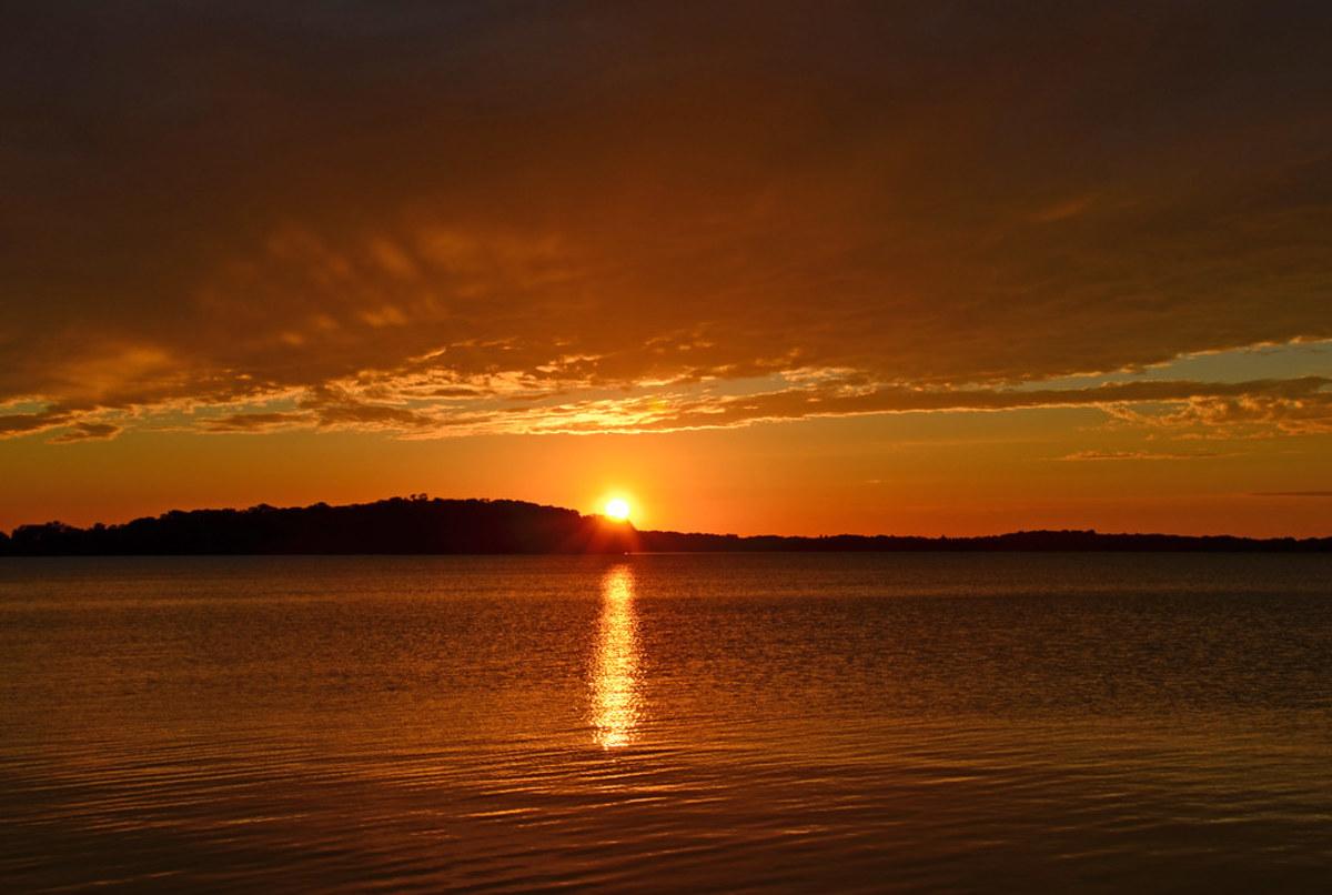 sunset, Lake Waconia