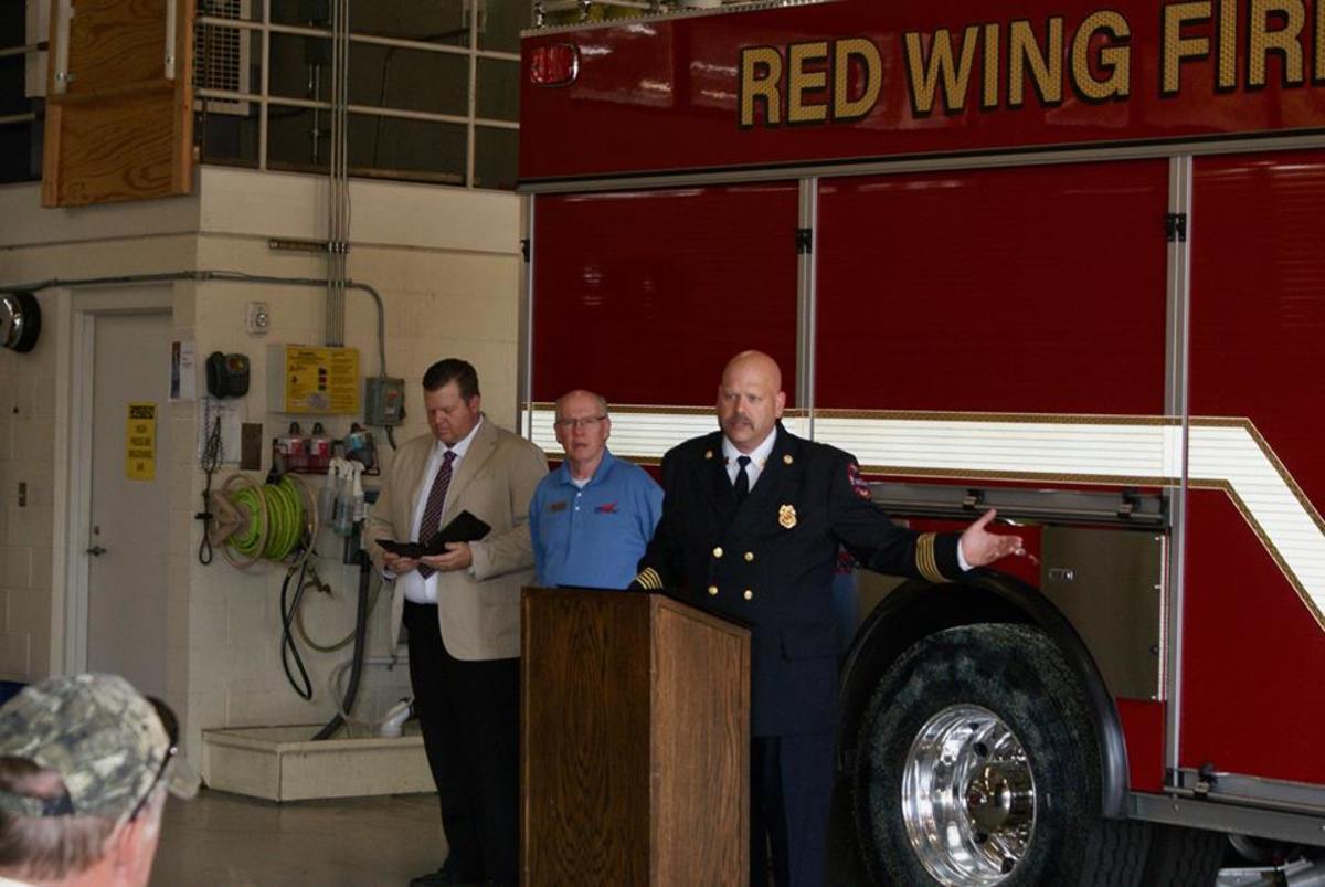 Red Wing Fire Chief Shannon Draper.
