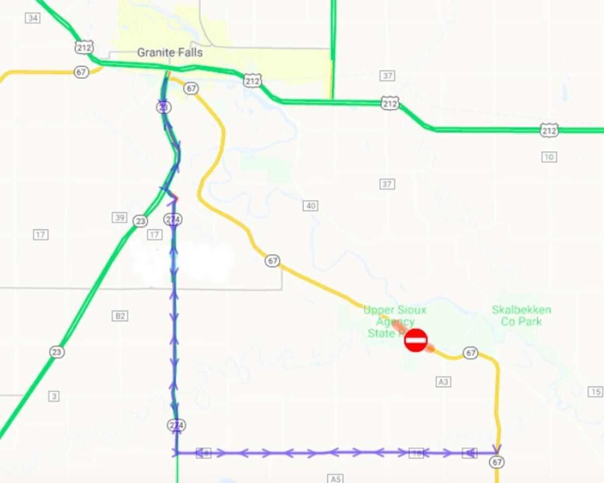 Highway 67 detour