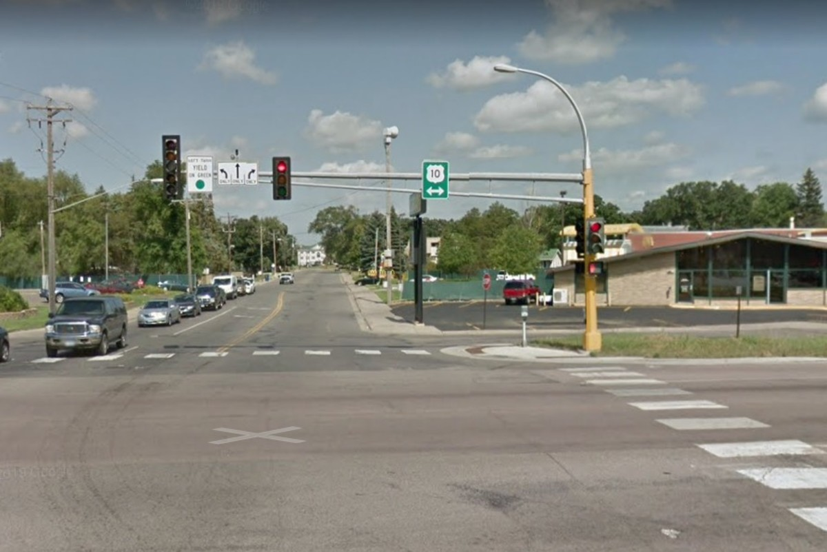 The intersection of Hwy. 10 and East Saint Germain Street in St. Cloud.