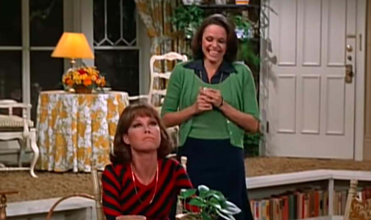 Valerie Harper and Mary Tyler Moore