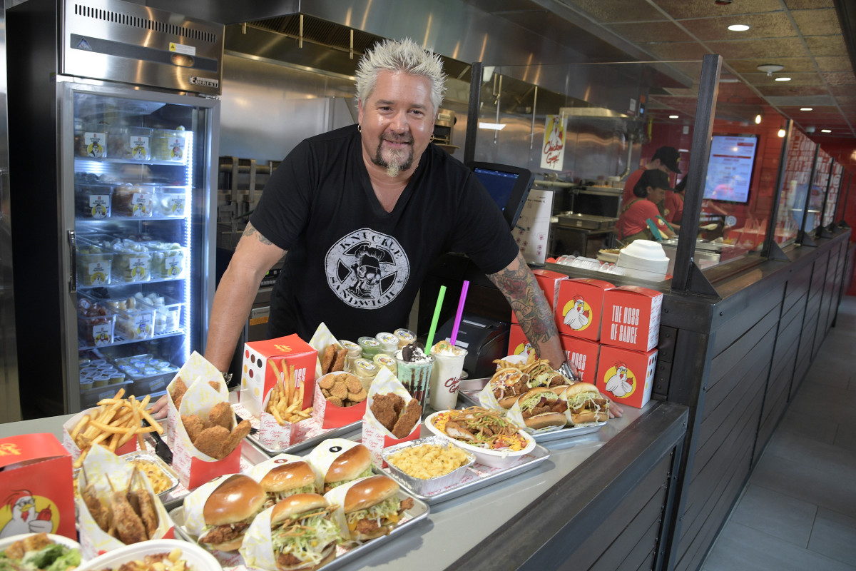 Guy Fieri at Chicken Guy! at Disney Springs