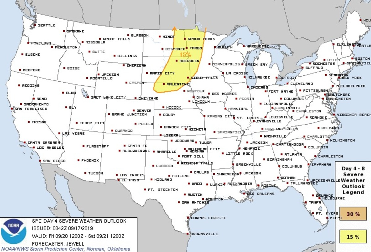 Still four days away, the SPC is closely watching for severe weather potential on Friday.