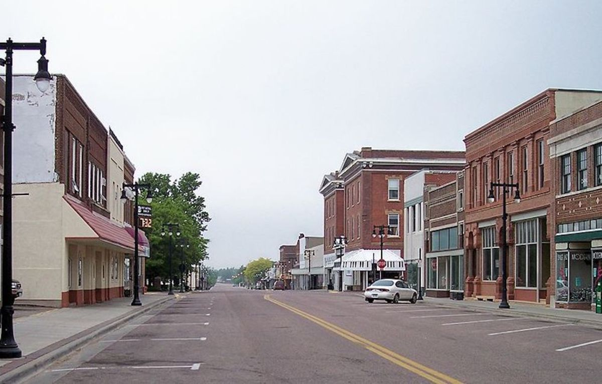 Worthington's main street in 2007.