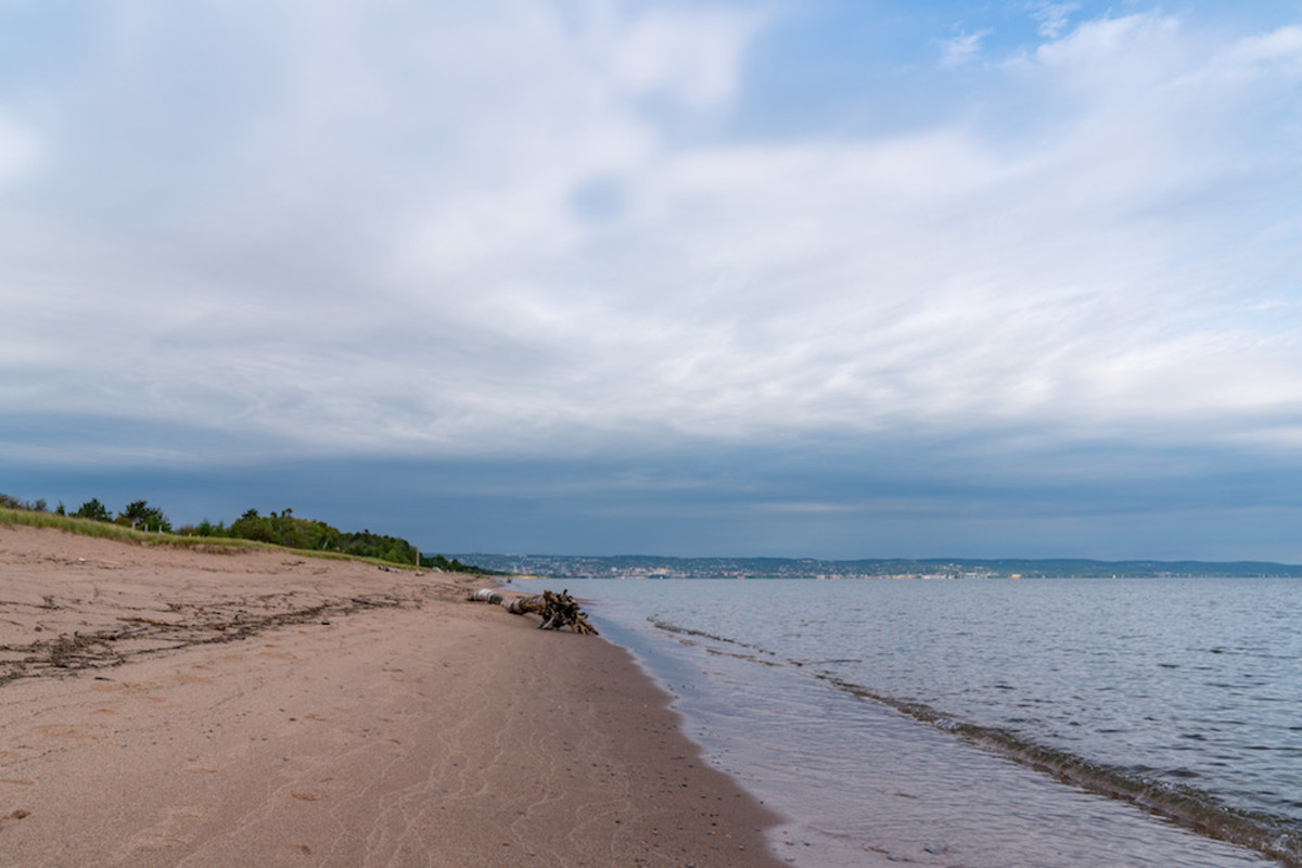 A beach on Lake Superior (not where the incident happened).