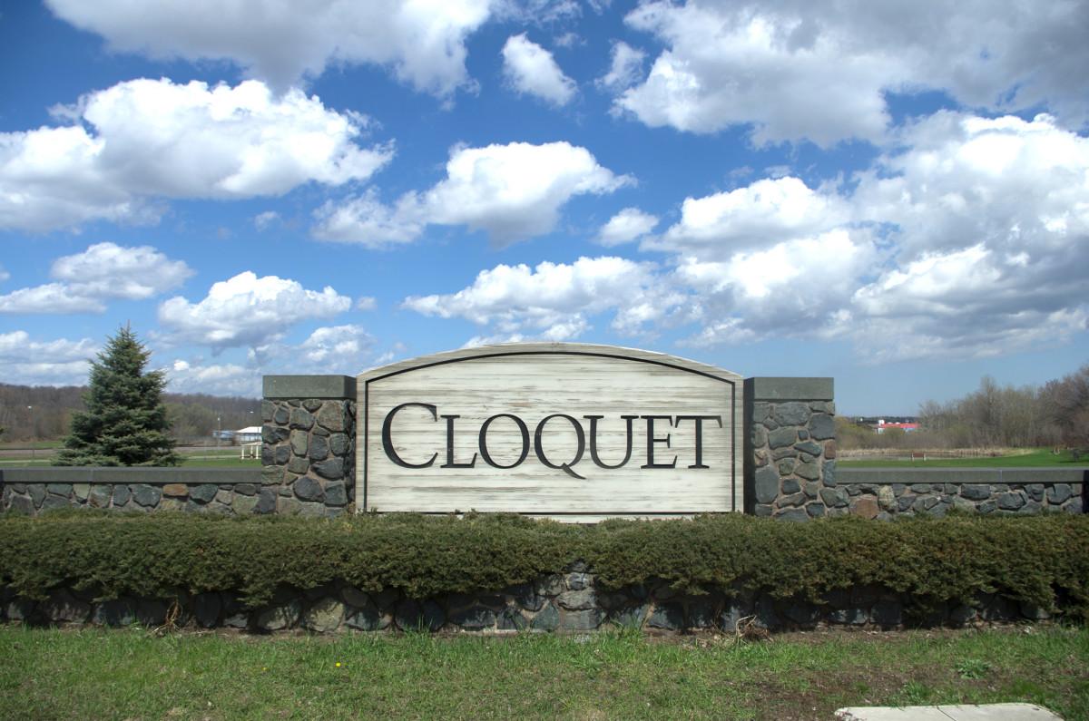 Cloquet welcome sign.