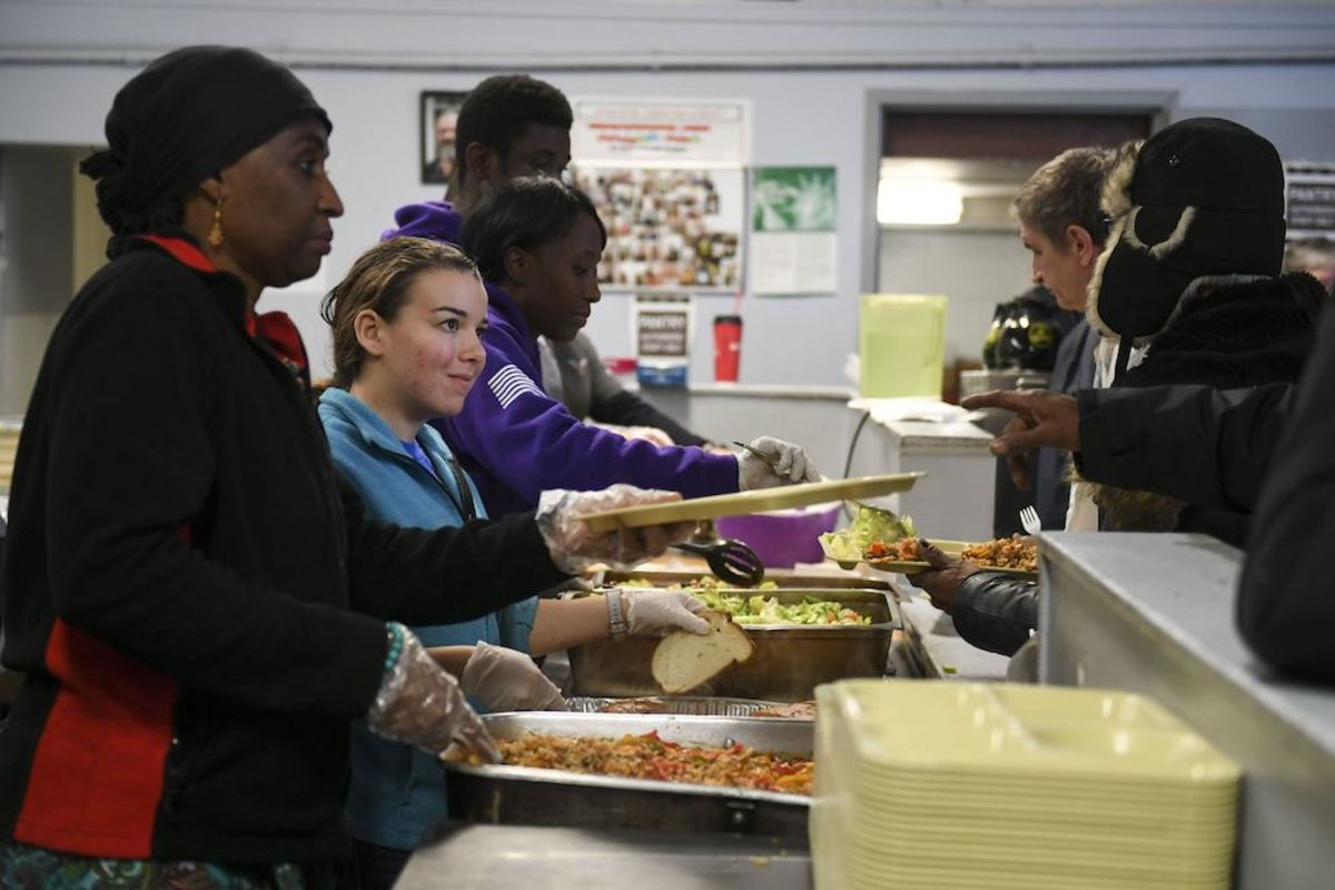 Dod food bank soup kitchen