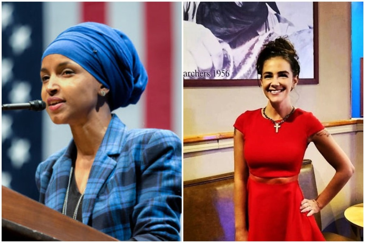Rep. Ilhan Omar and GOP challenger Danielle Stella.