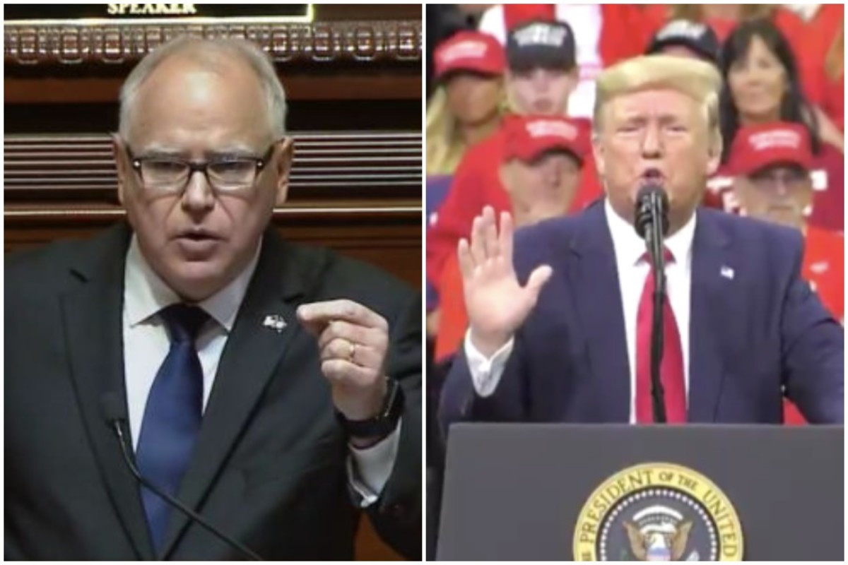 Gov. Walz and Pres. Trump