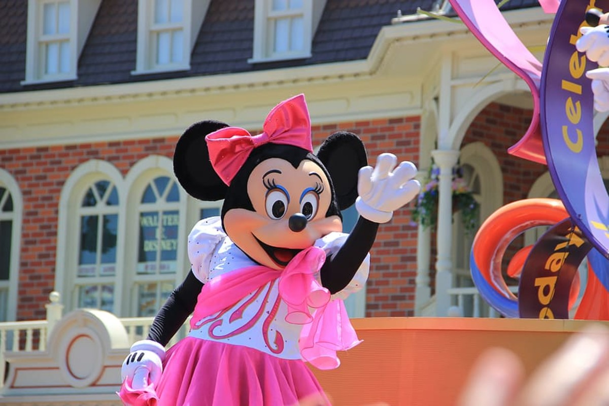 Minnie Mouse costumed character (Disney).