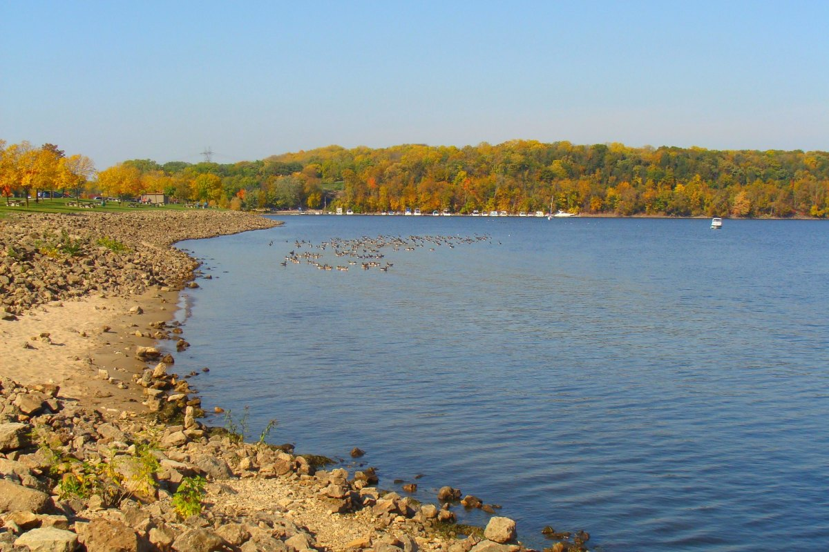 Mississippi River at Point Douglas Park in Hastings