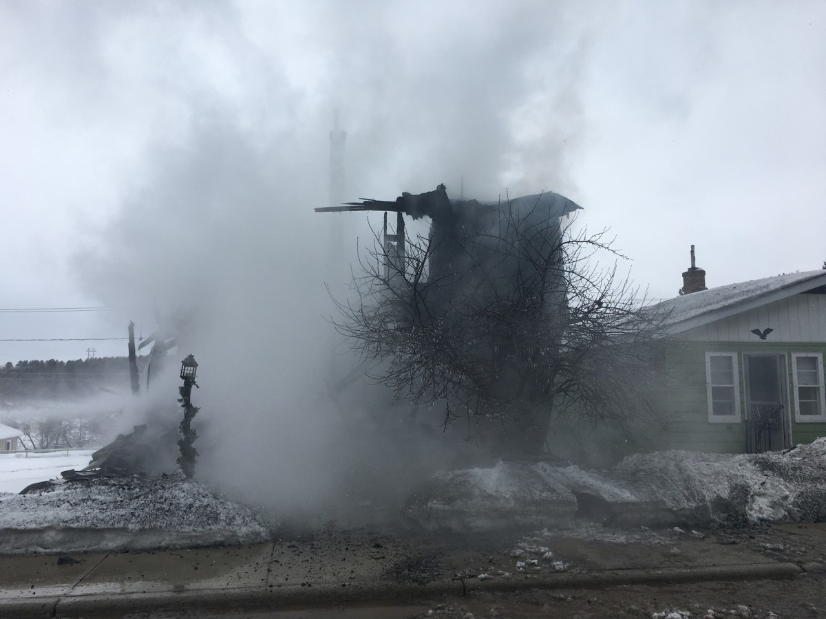 After the fire was extinguished Tuesday.