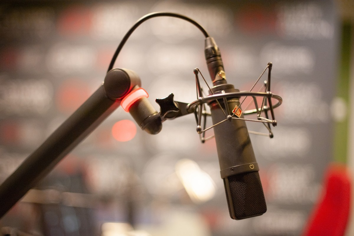 radio station, microphone