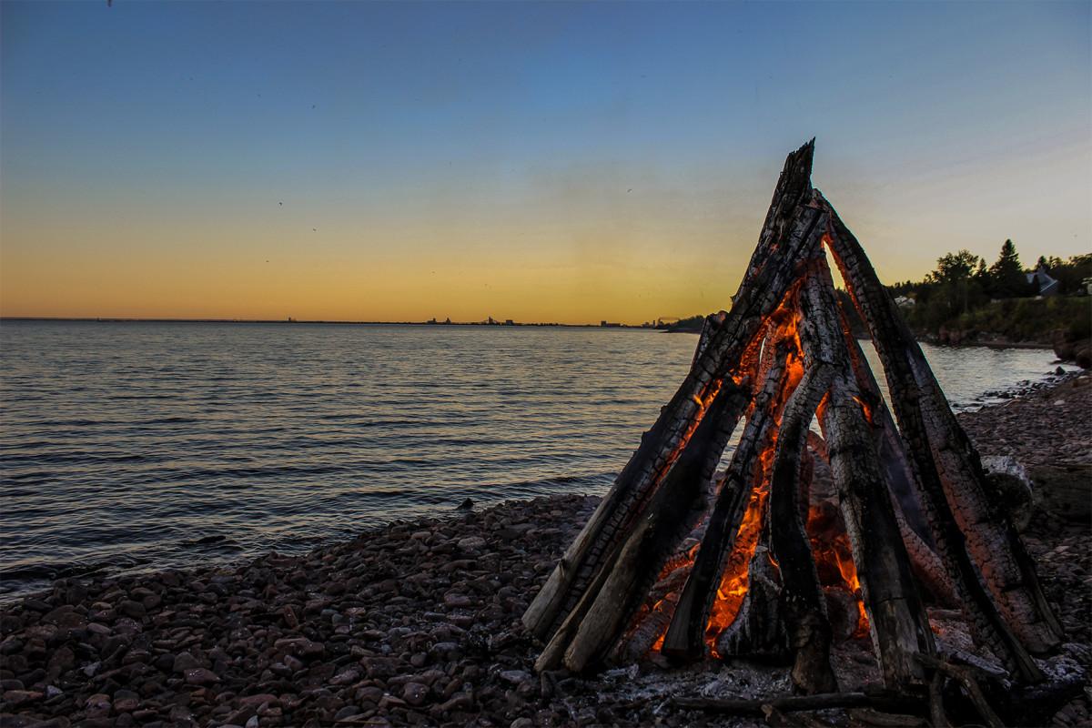 Lake Superior fire