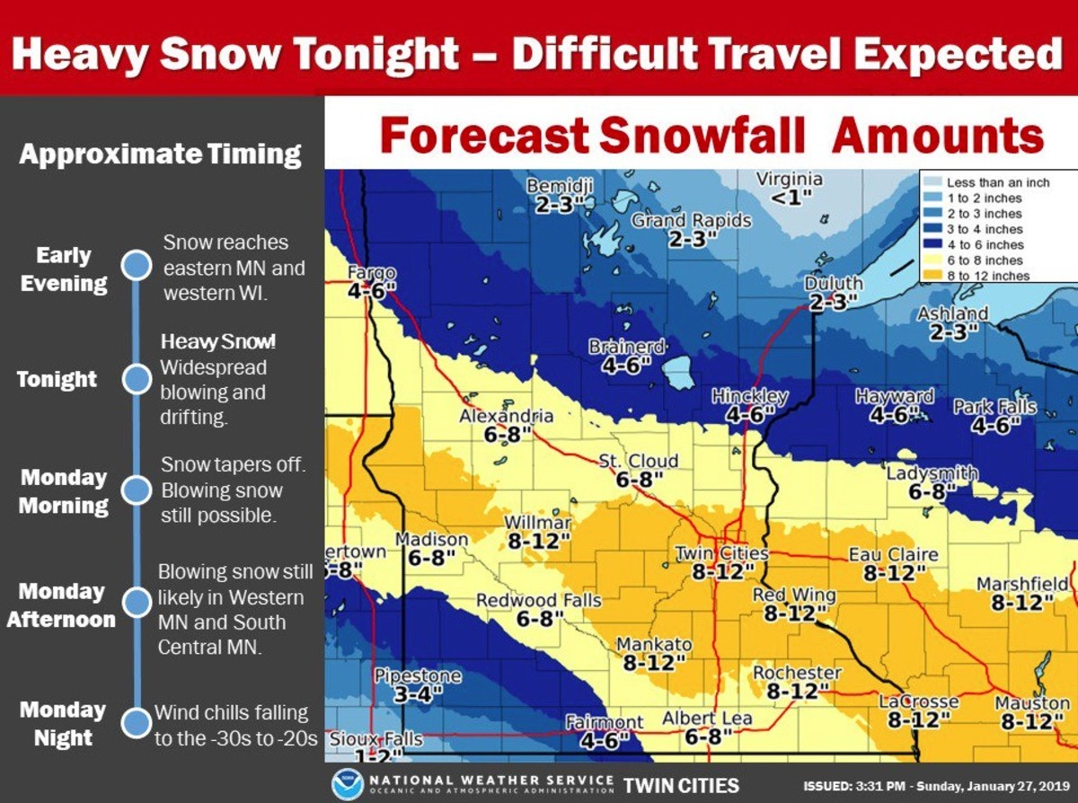 Winter storm update: Snowfall totals could reach a foot in