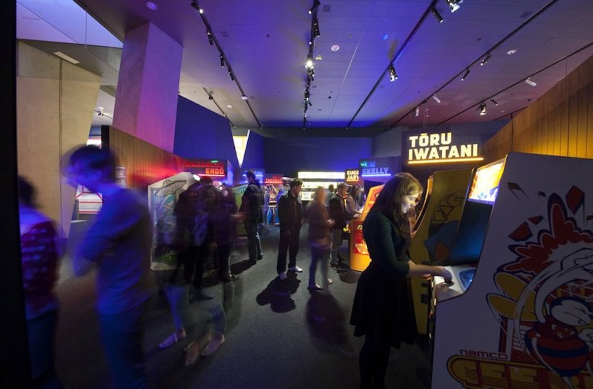 The exhibit is the work of the Australian Centre for the Moving Image.