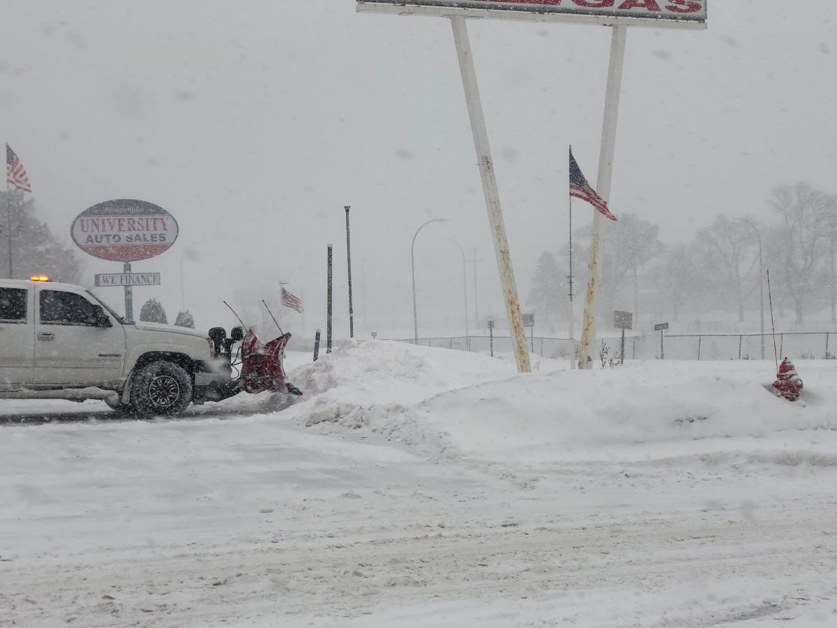 snow, snowplow