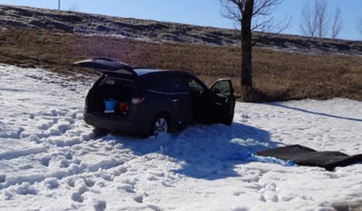 The vehicle involved in a high-speed chase in Aitkin County.