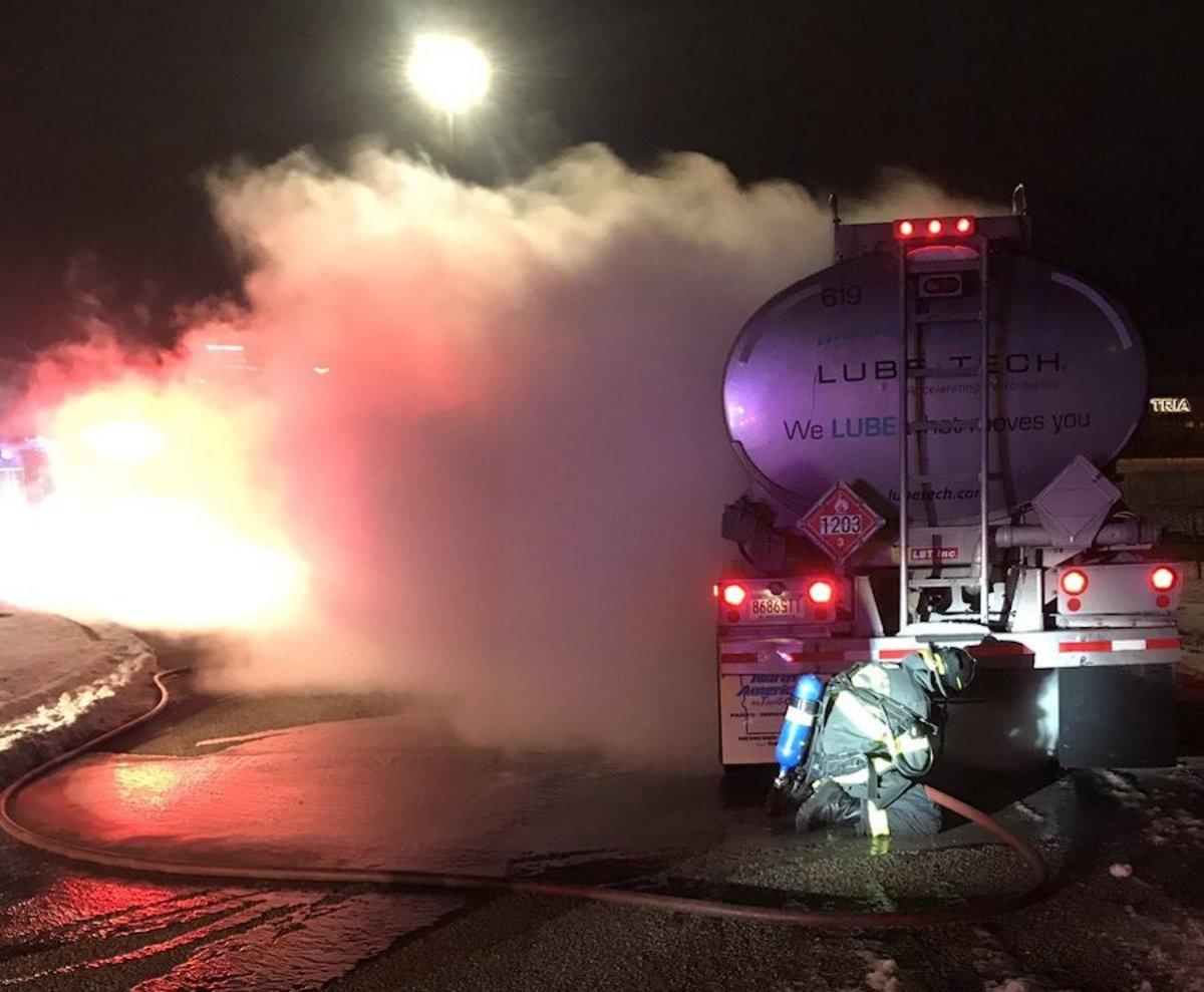 Gas tanker fire in Bloomington