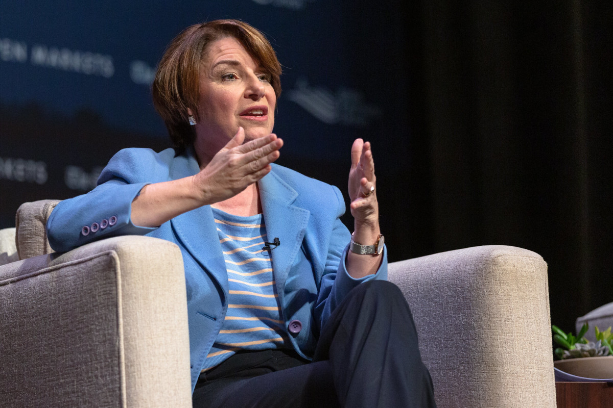 Sen. Amy Klobuchar in Iowa on March 31, 2019.