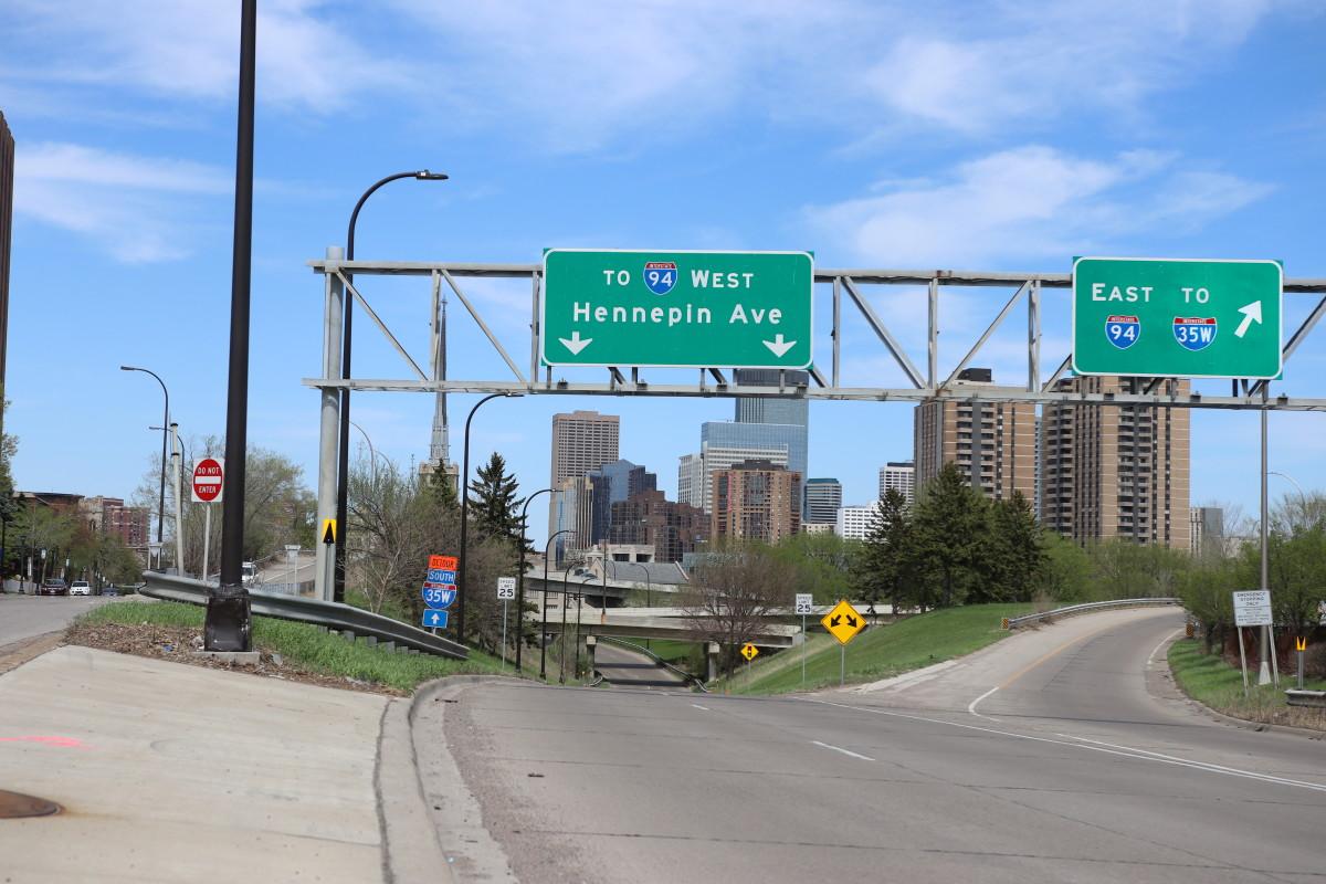 I-94 road signs Minneapolis