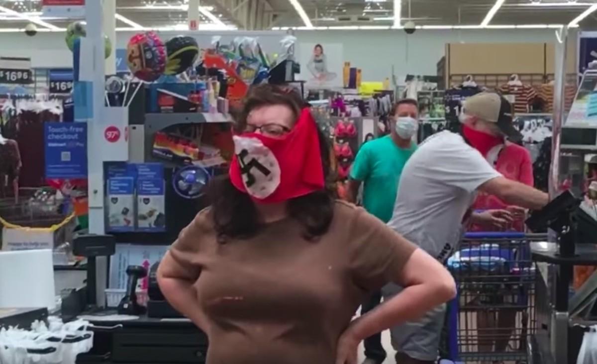 Walmart nazi mask incident in Marshall, MN.