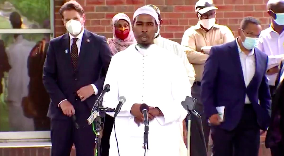 Gathering at Dar Al-Farooq Islamic Center in Bloomington
